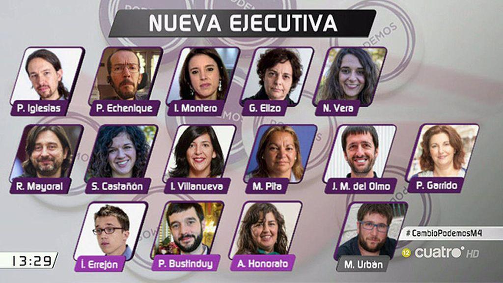 Así queda el nuevo organigrama de Podemos