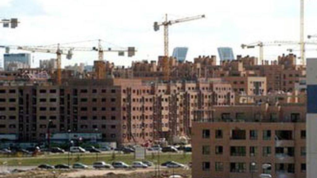 Viviendas en construcción. Imagen: Archivo