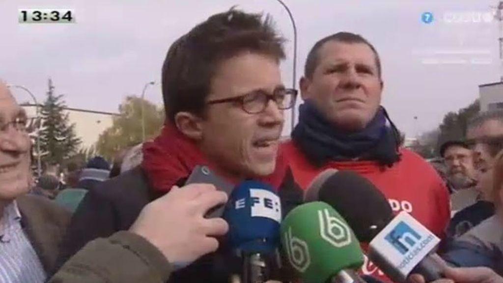 Íñigo Errejón critica la actitud del Gobierno con los trabajadores de Coca Cola