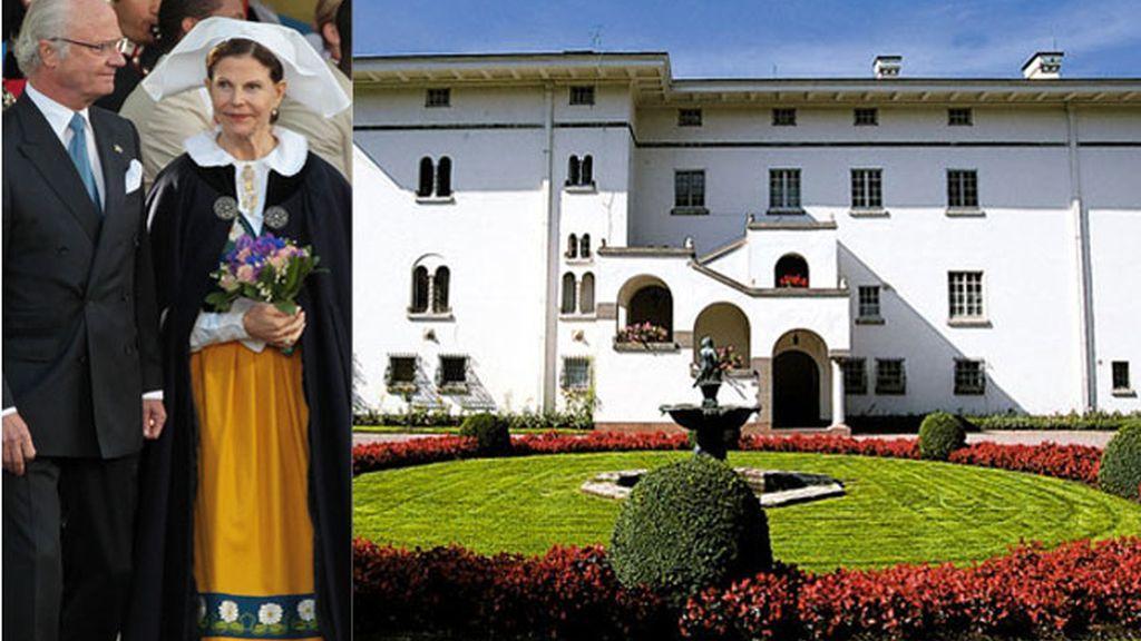 Los reyes de Suecia, Carlos Gustavo y Silvia, y su palacio de verano en Solliden. Fotos: Gtres / Sollidensslott