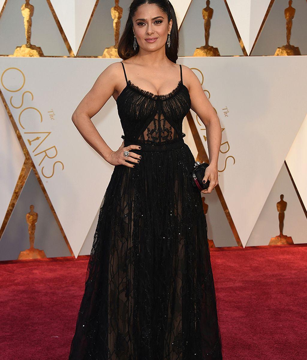 Salma Hayek vestida de Alexander McQueen