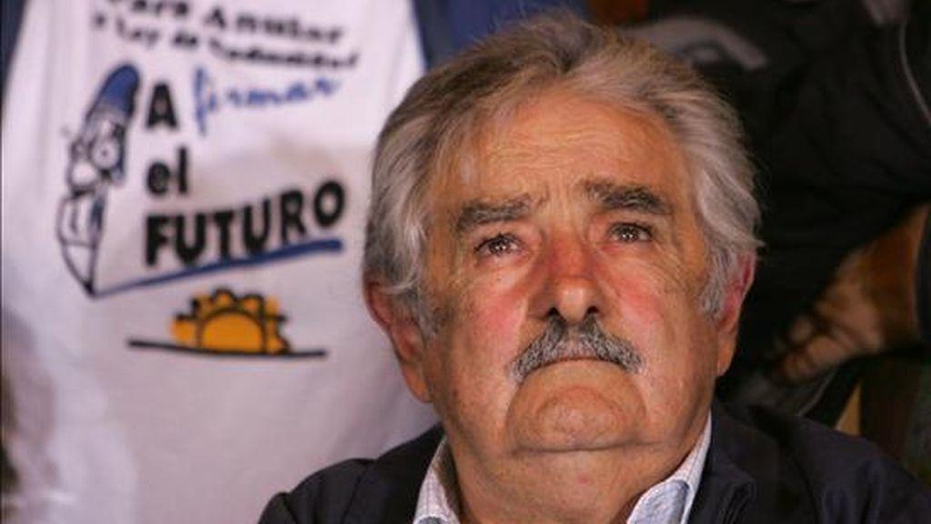 José Mujica cuenta con la preferencia del 49 al 51 por ciento de quienes aseguran que van a votar en las primarias de la coalición de izquierda. EFE/Archivo