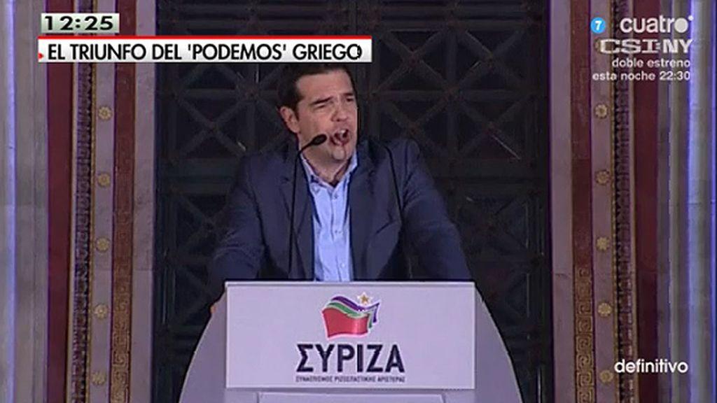 """Alexis Tsipras: """"Nuestra victoria es la de todos los pueblos de Europa que luchan contra la austeridad"""""""