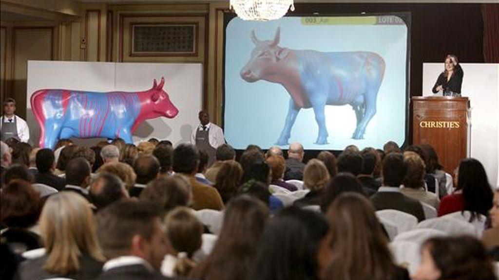Las 60 vacas de la Cowparade se han subastado en una venta organizada por la casa de subastas Christie's en Madrid. Vídeo: Informativos Telecinco