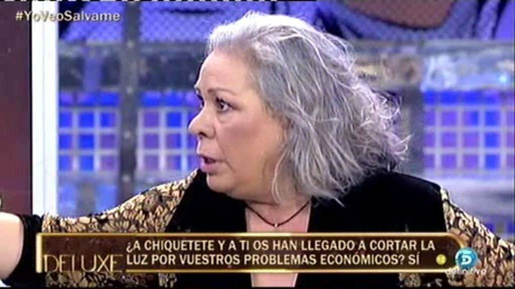"""Carmen Gahona: """"Me da vergüenza reconocer que nos han cortado la luz"""""""