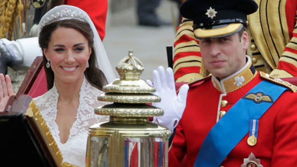 Guillermo y Catalina, duques de Cambridge, ya casados. Foto: GTRES