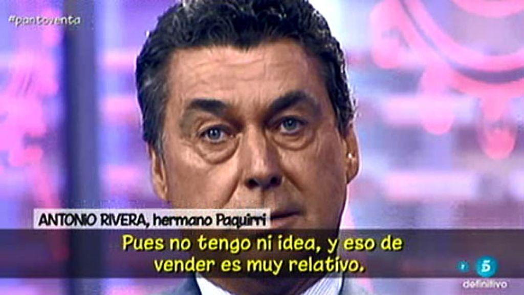 """Antonio Rivera: """"Si Pantoja ha vendido algo de los Rivera, vamos a tener lío"""""""