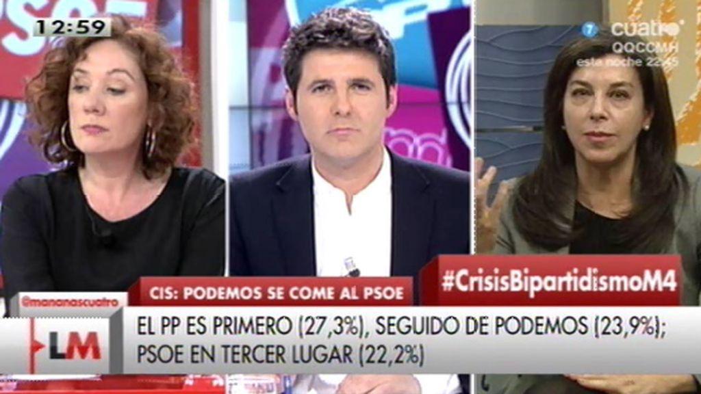 """A. Serrano, de los datos del CIS: """"Tenemos que acercarnos más a la gente"""""""