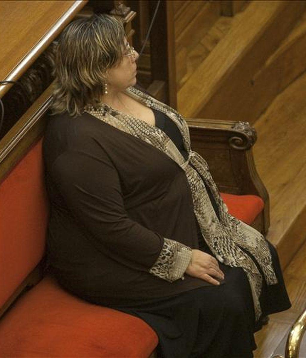 Maria Pilar G. el pasado día 2 en el segundo juicio como acusada de asesinar a su marido en 1998 para cobrar un seguro de vida. EFE