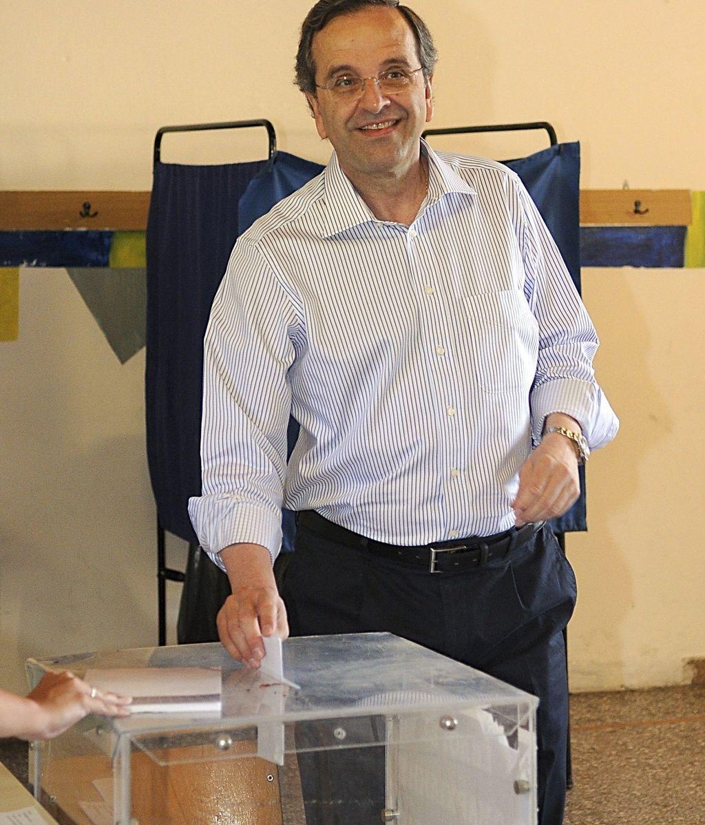 Antonio Samarás, líder del partido conservador Nueva Democracia (ND)