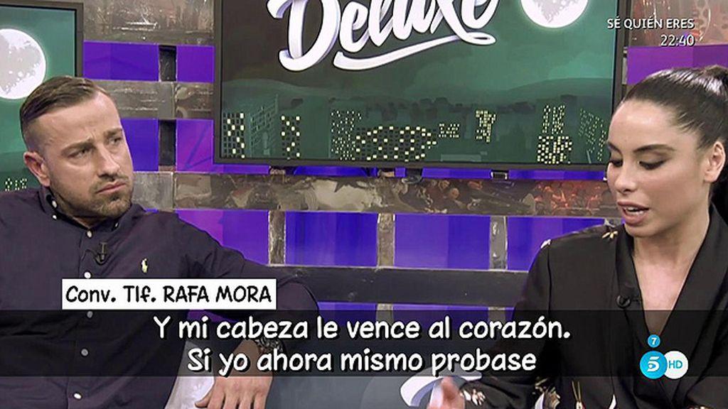 """Primeras palabras de Rafa Mora tras el 'Poli' de su chica: """"Mi relación está rota, no puedo luchar contra la desconfianza"""""""