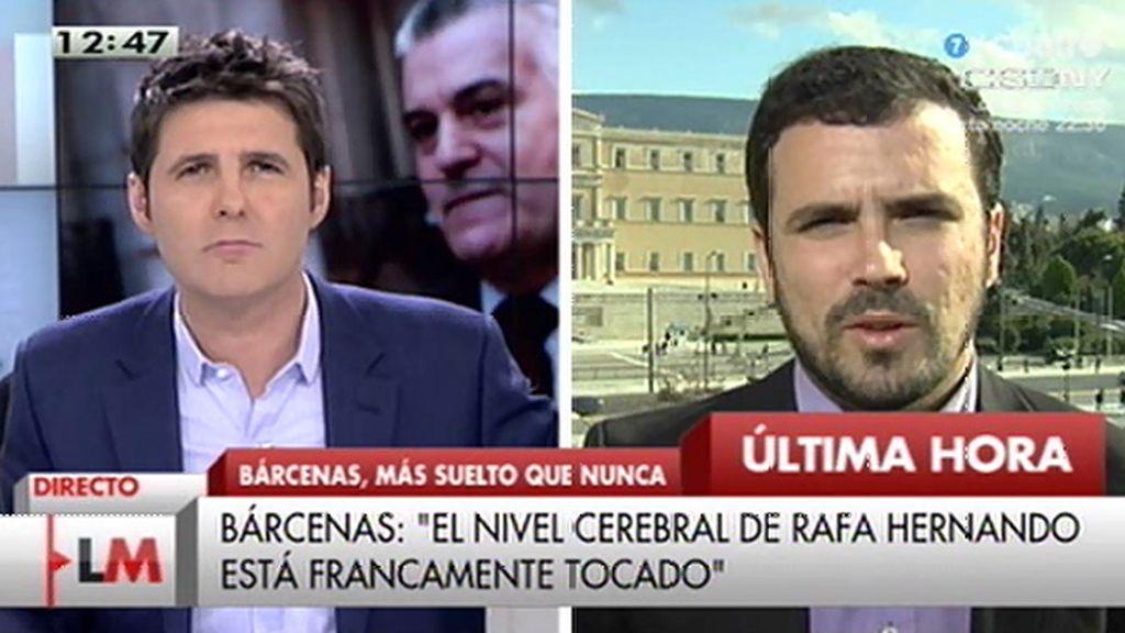 """A. Garzón: """"Lo que se abrió ayer en Grecia es la oportunidad de cambiar de rumbo"""""""