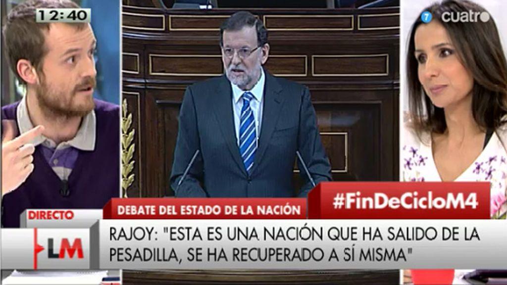 """Pablo Padilla: """"Rajoy confirma la hipótesis de Iglesias de que él es el líder de la oposición"""""""