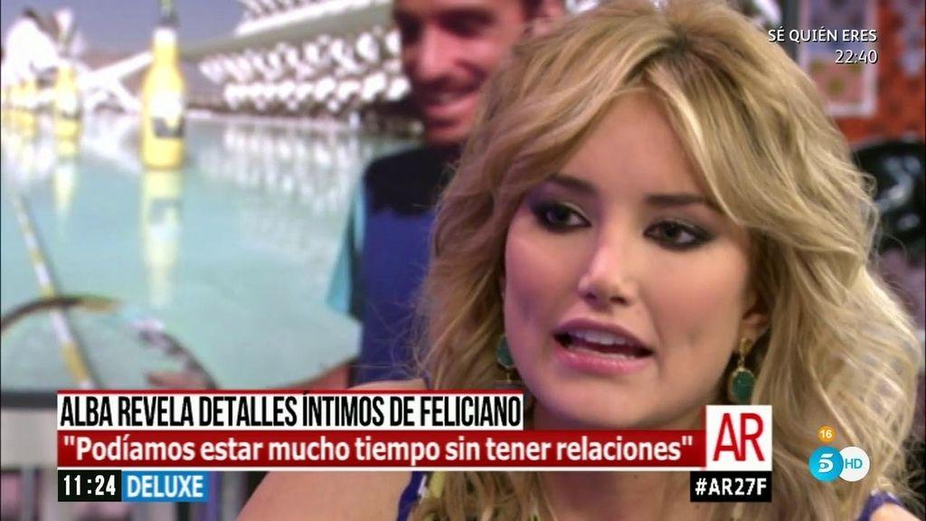 """Alba Carrillo, sobre Feliciano: """"Podíamos estar mucho tiempo sin relaciones"""""""
