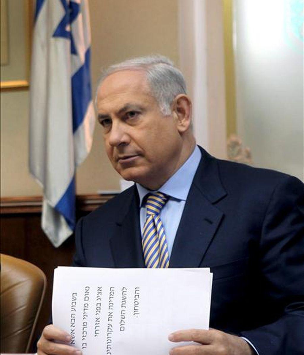 El primer ministro israelí, Benjamin Netanyahu. EFE/Archivo