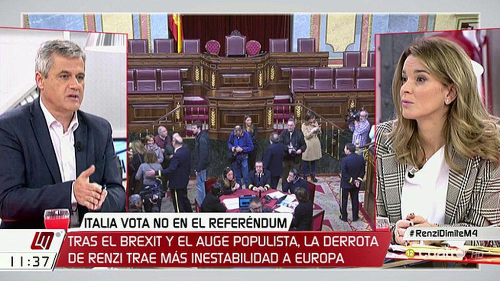 """M. Prohens (PP): """"¿Hay un único discurso en el PSOE sobre un tema tan importante como la reforma de la Constitución?"""""""
