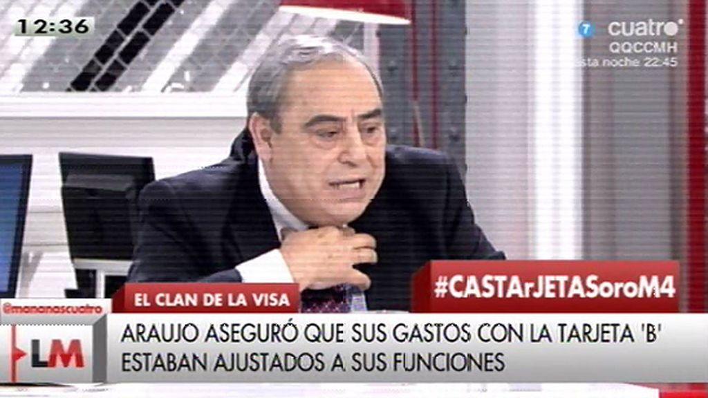 Araujo, uno de los ahora imputados, defendió su tarjeta en 'Las Mañanas de Cuatro'
