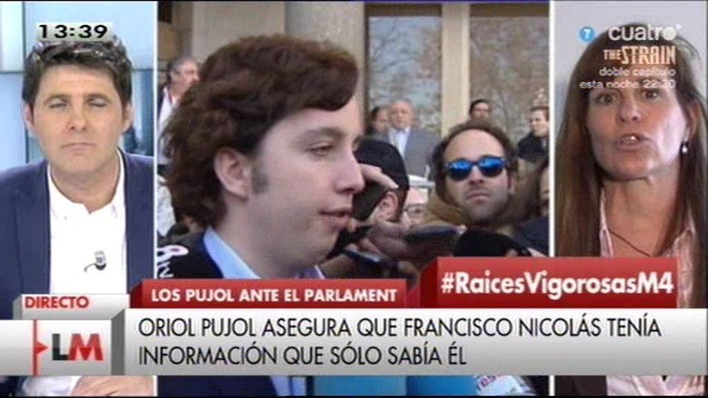 """Victoria Álvarez: """"Lo de la reunión de Nicolás y Pujol son tácticas para distraer la atención"""""""