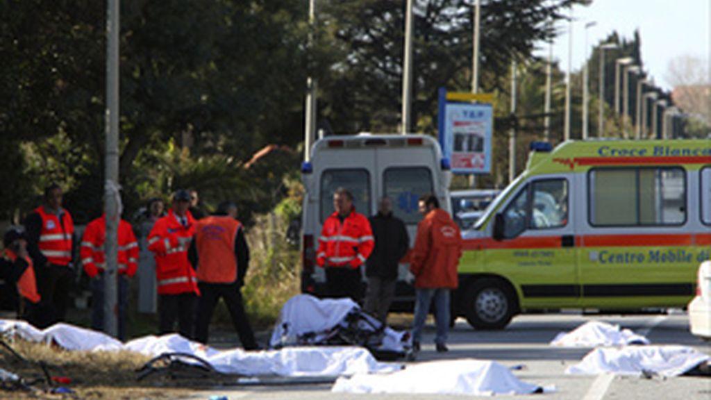 Ocho ciclistas mueren atropellados al sur de Italia