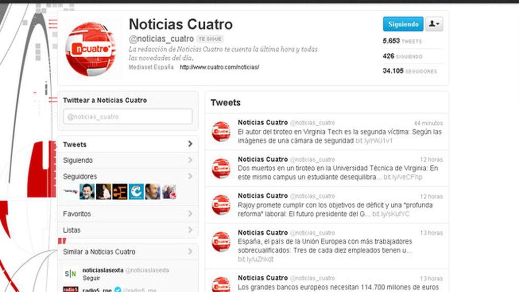 Twitter Noticias Cuatro