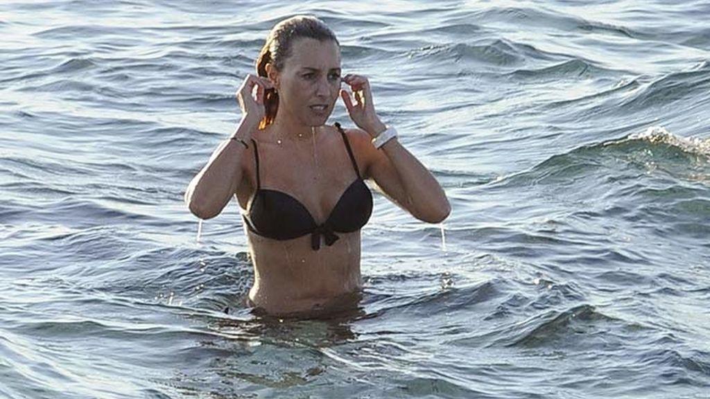 Berta Collado de vacaciones en Ibiza