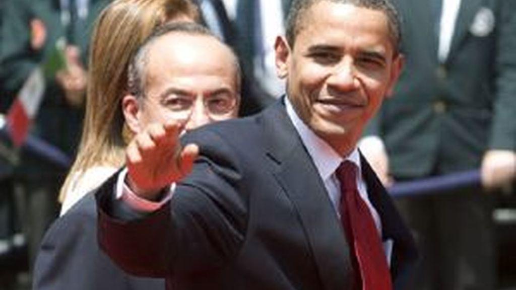 Obama ha llegado a Trinidad y Tobago tras reunirse con Felipe Calderón en México. Vídeo: ATLAS