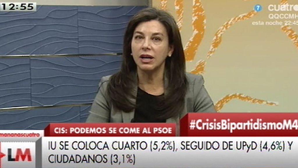"""A. Serrano, de Podemos: """"Parece que el programa se lo hacían en Venezuela"""""""