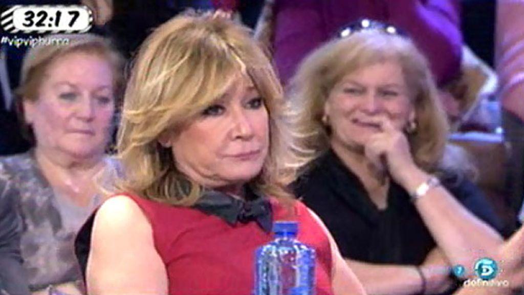 A Mila Ximénez 'le sube la tensión' pensando en el 'PoliDeluxe' de Luis Amaya