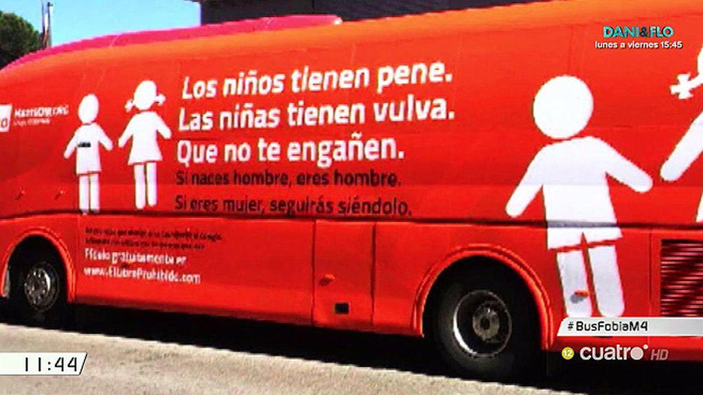 Un autobús con un mensaje contra la transexualidad de 'Hazte oír' recorre Madrid