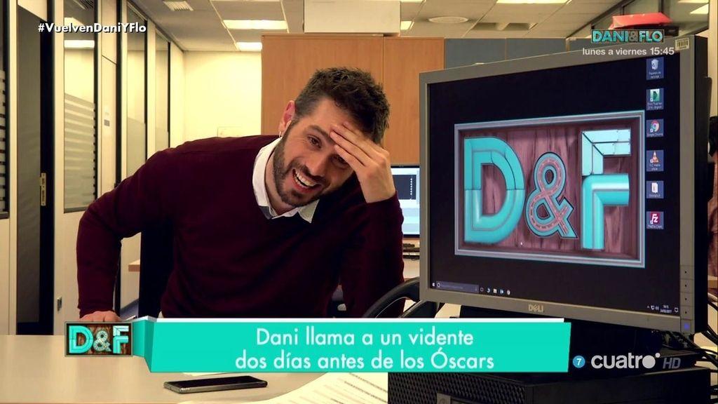 Dani Martínez llama a un vidente dos días antes de los Oscars... y esto es lo que pronostica