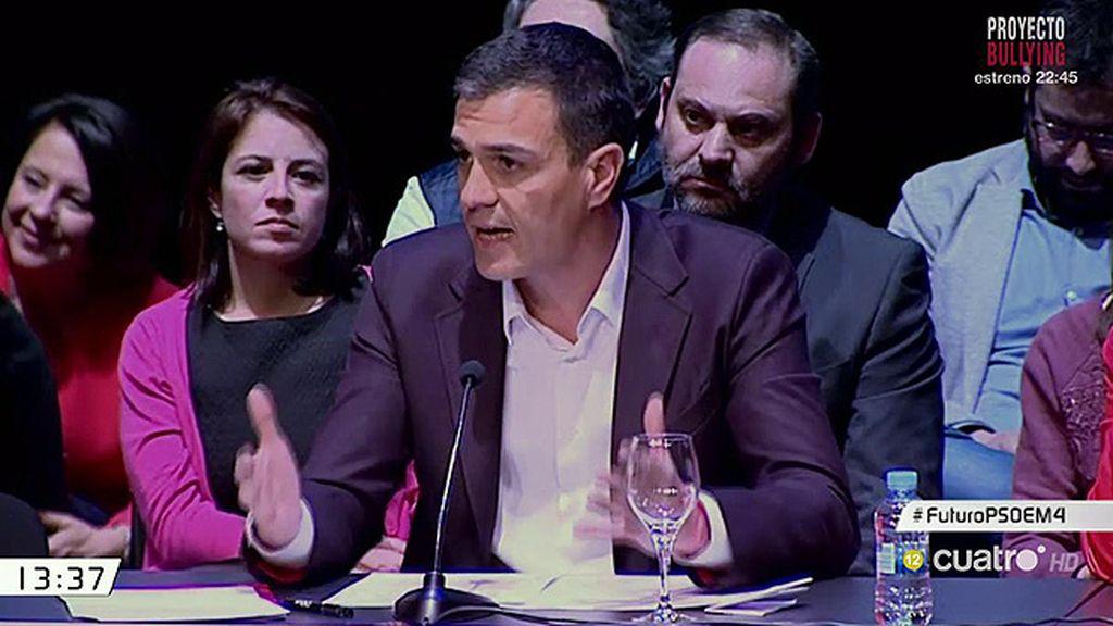 """Pedro Sánchez propone """"un nuevo camino"""" en el estreno de su nuevo proyecto"""