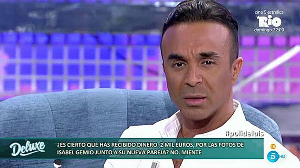 Luis Rollán habría recibido 2.000 euros por unas fotos de Isabel Gemio junto a su pareja