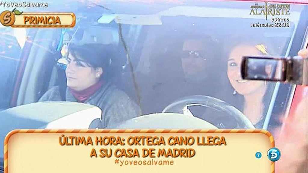 Ortega Cano llega a su casa de Madrid