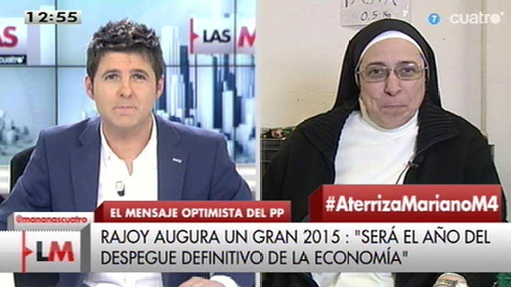 """Sor Lucía Caram: """"Mariano tiene que aterrizar, salir del plasma y dar la cara"""""""