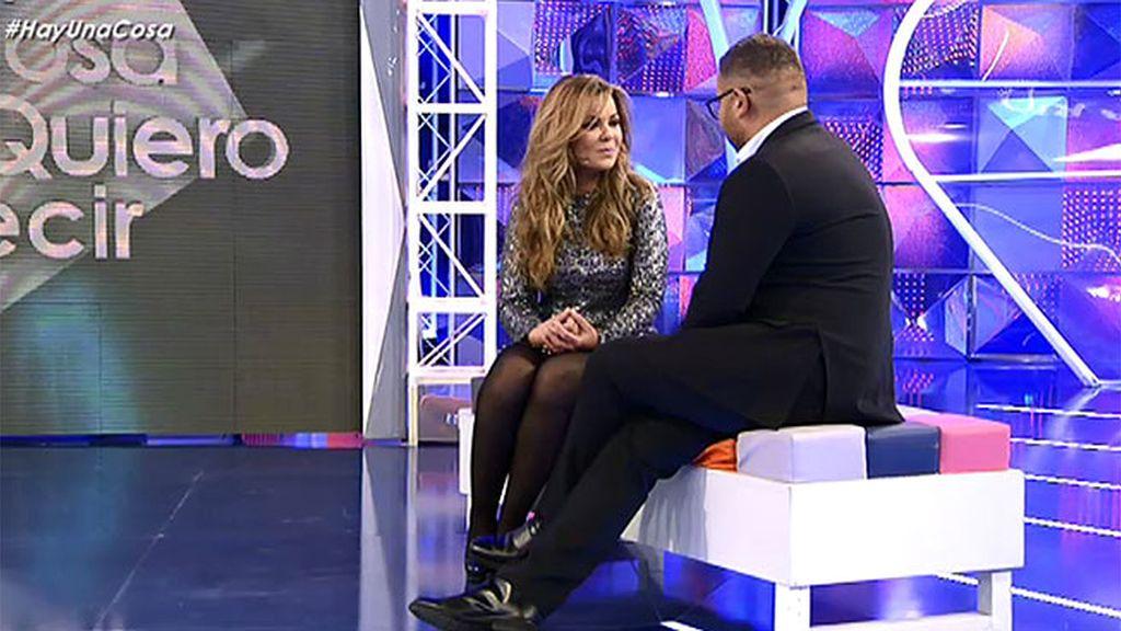 María José Campanario pisa por primera vez un plató de Telecinco