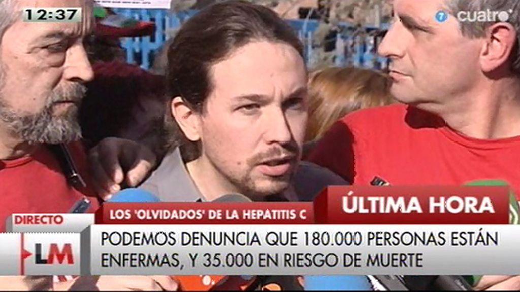 """Pablo Iglesias: """"Quien intente hacer política señalando quién se hace la foto solo tiene una palabra, miserable"""""""