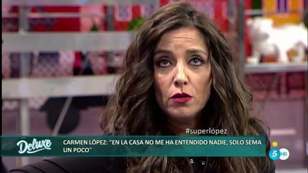 """Carmen López: """"La más falsa de GH VIP es Rosa Benito, que sigue un guion marcado"""""""