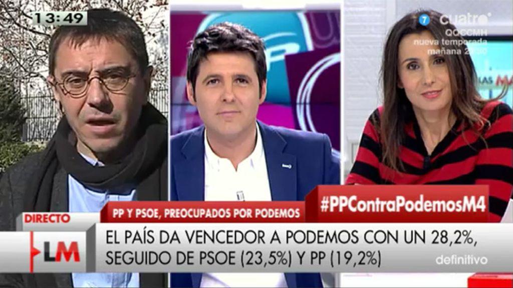 Monedero explica por qué acudió a la fiesta de Reyes de Carmen Lomana