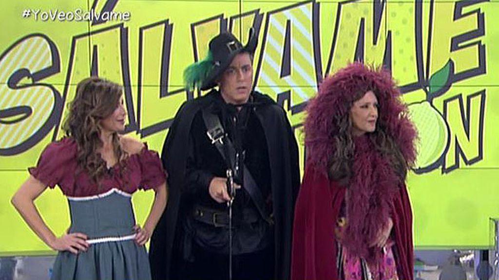 Kiko, Gema y Lydia se caracterizan como los protagonistas de Alatriste