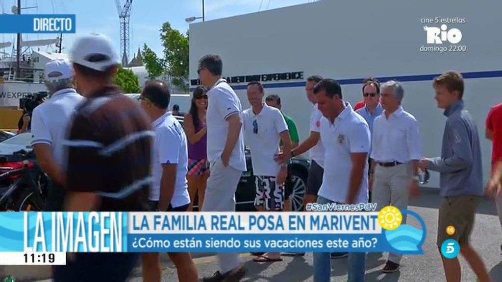 Felipe VI llega al club naútico de Mallorca