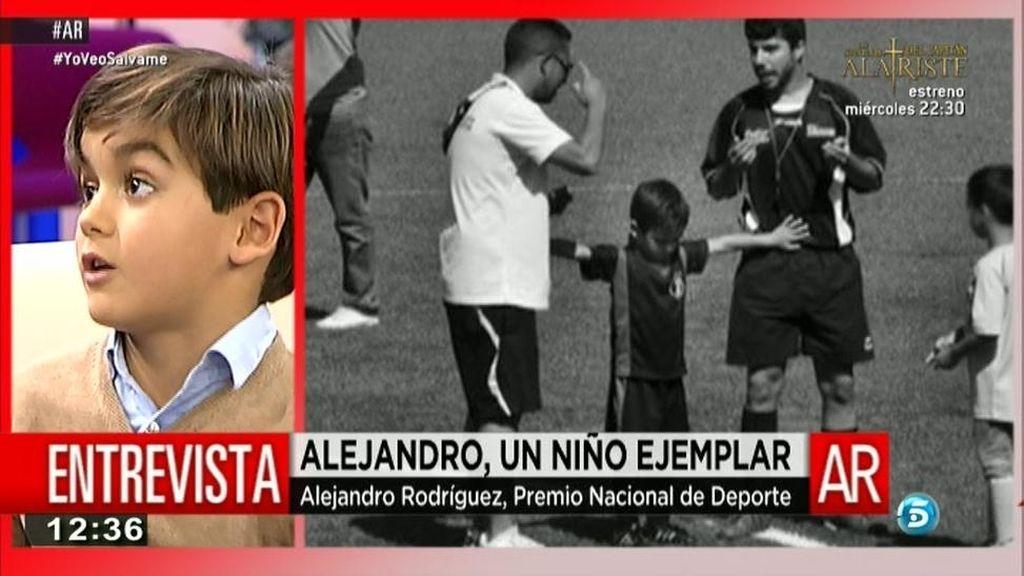 """Alejandro, premio Nacional del Deporte: """"No voy a permitir peleas en el fútbol"""""""
