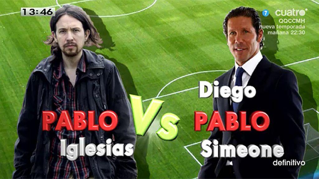 Pablo Iglesias vs. Diego Pablo Simeone