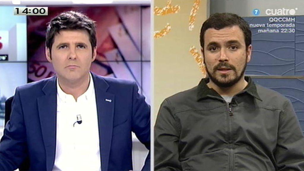 """A. Garzón, de Podemos: """"Creo que es un error y una irresponsabilidad histórica prescindir de la unidad popular"""""""