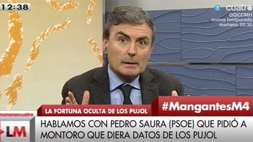 """Pedro Saura (PSOE): """"El ministro Montoro mintió, engañó a todos los españoles"""""""