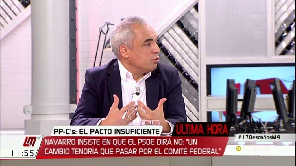"""Simancas: """"Vamos a votar en contra de Rajoy porque por eso nos han votado a nosotros"""""""