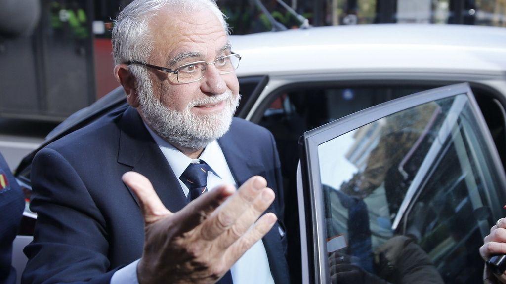 El expresidente de las Corts Valencianes y exconseller de Agricultura, Juan Cotino, ha llegado al Tribunal Superior de Justicia valenciano