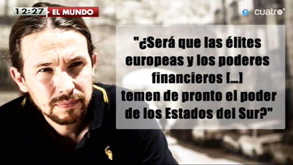 """""""Qué nerviosas se han puesto las bolsas europeas ante la posibilidad de que los griegos y los españoles voten en libertad"""""""