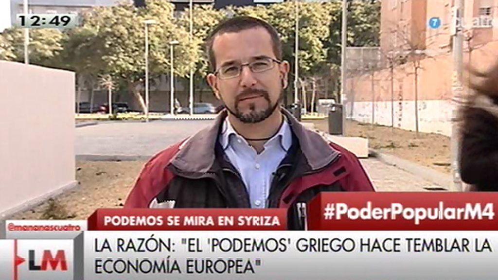 """S. Pascual: """"Los poderes financieros y sus siervos intentan amedrentar a la población"""""""