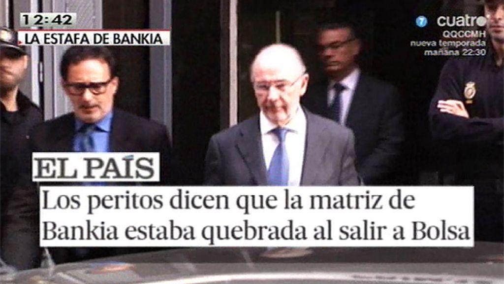 Bankia salió a bolsa con la matriz quebrada, según los peritos del Banco de España