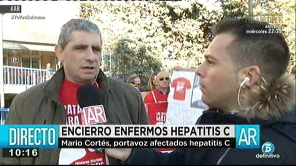 """Mario Cortés, portavoz de afectados de hepatitis C: """"No nos valen las falsas promesas"""""""